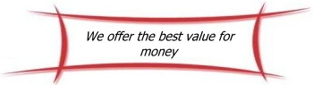 We offer the best value for money